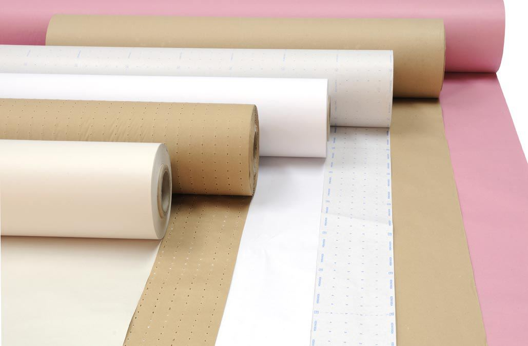 Plotter papers. Paper and plastic films for cutting rooms.